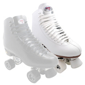 Sure Grip International 73 Super X Medallion Plus Womens Artistic Roller Skates, White, medium
