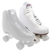 Sure Grip International 73 Super X Medallion Plus Womens Artistic Roller Skates, White, medium