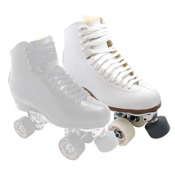 Sure Grip International 93 Century Bones Elite Womens Artistic Roller Skates, White, medium