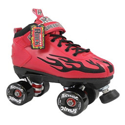 Rock Sonic Outdoor Roller Skates, Red-Black Flames, 256