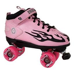 Rock Sonic Outdoor Roller Skates, Pink-Black Flames, 256