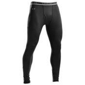Under Armour EVO ColdGear Mens Long Underwear Pants, Black, medium