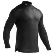 Under Armour Evo ColdGear Fitted Mock Mens Long Underwear Top, Black-Graphite, medium