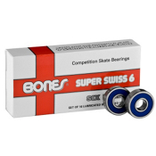 Bones Super Swiss 6 Ball Skate Bearings, , medium