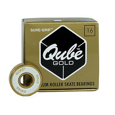 Sure Grip International QUBE Gold Swiss Skate Bearings, , large