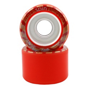 Backspin Deluxe Roller Skate Wheels - 8 Pack 2014, Red, medium