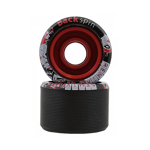Backspin Remix Lite Roller Skate Wheels - 8 Pack, Black, 600