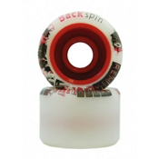 Backspin Remix Lite Roller Skate Wheels - 8 Pack, White, medium