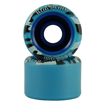 Backspin Blueprint Roller Skate Wheels - 8 Pack, Blue, viewer