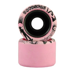Backspin Rockstar Roller Skate Wheels - 8 Pack, Pink, 256