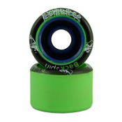 Backspin Scribble Roller Skate Wheels - 8 Pack 2013, Green, medium