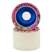 Hyper Shaman Roller Skate Wheels - 8 Pack, White-Blue, medium