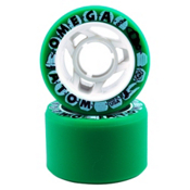 Atom Omega Roller Skate Wheels - 8 Pack 2013, Green, medium