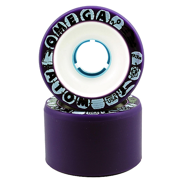 Atom Omega 2 Roller Skate Wheels - 8 Pack, Purple, 600