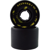 Atom Stinger Roller Skate Wheels - 8 Pack 2013, Black, medium