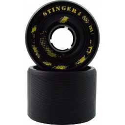 Atom Stinger Roller Skate Wheels - 8 Pack, Black, 256