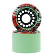 Labeda Heckler Roller Skate Wheels - 8 Pack 2014, Green, medium