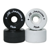 Sure Grip International All American Plus Roller Skate Wheels - DU101A_8 Pack 2014, Black, med