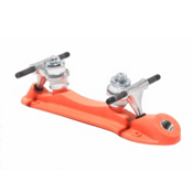 RC Probe Roller Skate Plates with Trucks, Orange, medium