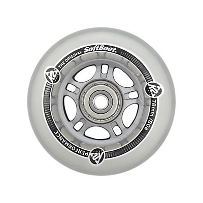 K2 78mm 80A Inline Skate Wheels with ABEC 5 Bearings - 8 Pack, , large