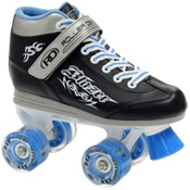 Roller Derby Blazer Lighted Wheel Boys Outdoor Roller Skates, Black-Blue, medium