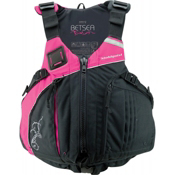 Stohlquist Betsea Womens Kayak Life Jacket 2014, Pink-Black, medium