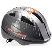 Rollerblade Zap Kids Fitness Helmet, Gray-Black-Orange, medium