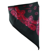 Seirus Softshell Paisley Bandana, Black-Dark Red, medium