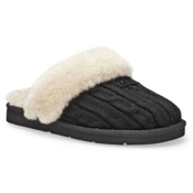 UGG Australia Cozy Knit Womens Slippers, Black, medium