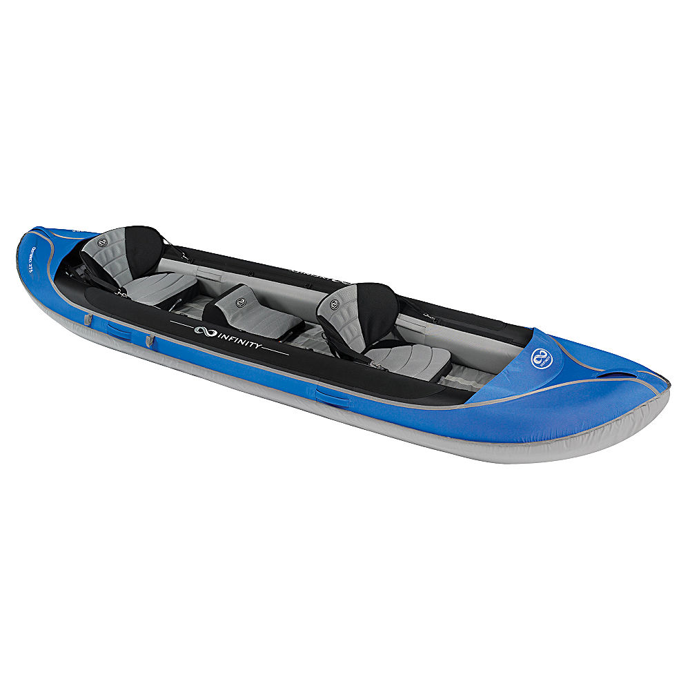 Harmony Odyssey 375 3 Person Inflatable Kayak Blue 12ft Ebay