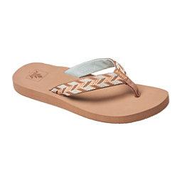 Reef Mid Seas Womens Flip Flops, Mocha Peach, 256