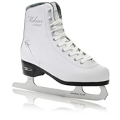 Lake Placid Milan 6000 Traditional Womens Figure Ice Skates, White, medium