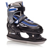 Lake Placid Metro Adjustable Kids Figure Ice Skates, Black, medium