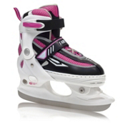 Lake Placid Metro Adjustable Girls Figure Ice Skates, White, medium