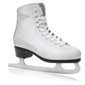 Lake Placid Glider 4000 Womens Figure Ice Skates, White, medium