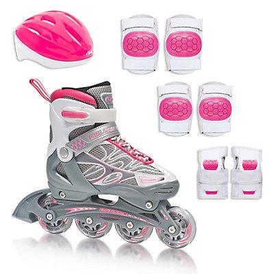 Roller Derby ZX-9 Pack Adjustable Girls Inline Skates, , large