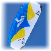 HQ Kites Apex III Power Kite, Blue-White, medium