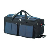 Athalon Sport Bags 15 Pocket 22'' Wheeled Duffel Bag, Blue, medium
