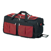 Athalon Sport Bags 15 Pocket 29'' Wheeled Duffel Bag, Red, medium