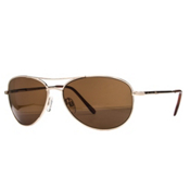 SunCloud Patrol Sunglasses, Gold-Brown Pola