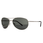 SunCloud Patrol Sunglasses, Silver-Gray Polarized, medium