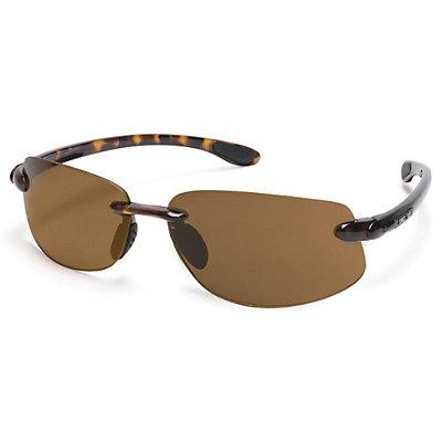 SunCloud Excursion Polarized Sunglasses, Black-Gray Polarized, large