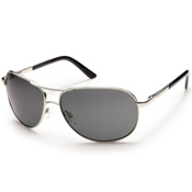 SunCloud Aviator Sunglasses, Silver, medium