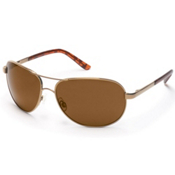 SunCloud Aviator Sunglasses, Gold-Brown Polarized, medium