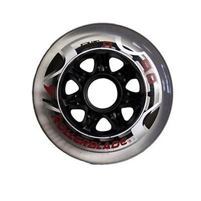 Rollerblade Active 90mm 84A Inline Skate Wheels - 8 Pack, , large