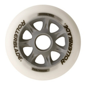 Rollerblade Spiral Inline Skate Wheels - 8 Pack (84a), 6x100-2x90mm, medium