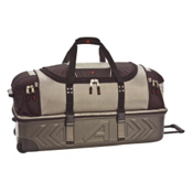 Athalon Sport Bags Athalon Molded 22'' Detachable Wheeled Duffel Bag, Platinum, medium