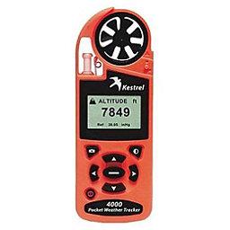 Kestrel 4000 Pocket Weather Tracker with Bluetooth, Safety Orange, 256