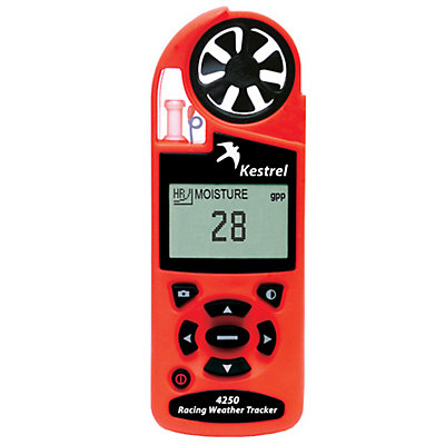 Kestrel 4250 Racing Weather Tracker with Bluetooth, Safety Orange, viewer