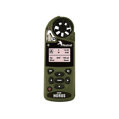 Kestrel Weather Tracker with Horus Atrag Ballistics and Bluetooth, Olive Drab, viewer